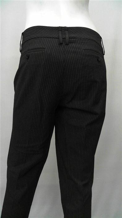 Michael Michael Kors Misses 8 Pinstriped Dress Pants Black Solid