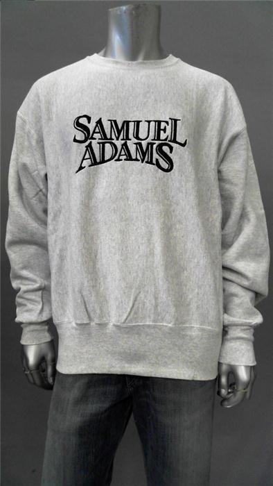 Lee Samuel Adams Mens XL Casual Pullover Sweater Gray Logo Top