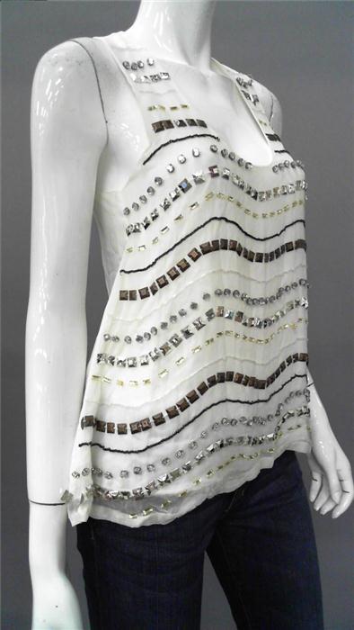 Bags Los Angeles Ladies Womens M Dressy Tank Top Swan Beaded